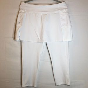 Athleta white skirt/Capri leggings